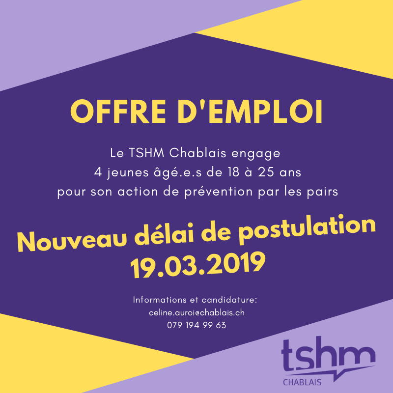 Offre D Emploi Prévention Par Les Pairs 2019